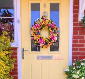 Φέρε την άνοιξη στο σπίτι σου και άλλαξε διάθεση - Στεφάνια, λουλούδια, αέρινες κουρτίνες (φωτό) - Κυρίως Φωτογραφία - Gallery - Video