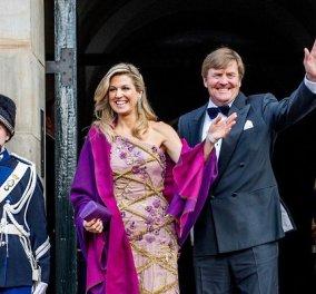 Με αφορμή τα 50α γενέθλια της βασίλισσας Μάξιμα της Ολλανδίας: Τα επίσημα φουστάνια της πιο πολύχρωμης royal - Κίτρινα, μπορντό, ροζ & πορτοκαλί (φωτό) - Κυρίως Φωτογραφία - Gallery - Video