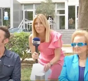 Ματίνα Παγώνη, η γιατρός - αισιοδοξία: Μπλε ηλεκτρίκ κοστούμι, ασορτί καθρεφτέ γυαλιά (φωτό & βίντεο) - Κυρίως Φωτογραφία - Gallery - Video
