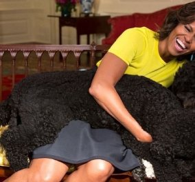 Η Μισέλ Ομπάμα πολύ συγκινημένη αποχαιρετά τον Bo, τον σκύλο της οικογένειας που πέθανε από καρκίνο (φωτό) - Κυρίως Φωτογραφία - Gallery - Video