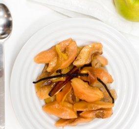Στέλιος Παρλιάρος: Μήλα και κυδώνια στο φούρνο - Μια γαλλικού τύπου κομπόστα, ιδιαίτερα εύκολη και υγιεινή - Κυρίως Φωτογραφία - Gallery - Video