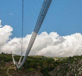 Arouca: Εγκαίνια για την μεγαλύτερη κρεμαστή πεζογέφυρα στον κόσμο - μήκους 516 μέτρων! Πάνω από τον ποταμό Πράιβα στην Πορτογαλία (βίντεο) - Κυρίως Φωτογραφία - Gallery - Video