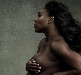 Όταν η έγκυος τότε Serena Williams πόζαρε γυμνή στο Vanity Fair: Η φουσκωμένη κοιλίτσα της τενίστριας, η αλυσίδα στη μέση (φωτό) - Κυρίως Φωτογραφία - Gallery - Video