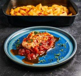Αργυρώ Μπαρμπαρίγου: Ένα λαχταριστό πιάτο από τα χεράκια της - Ψάρι αλά Σπετσιώτα, με σάλτσα ντομάτας  - Κυρίως Φωτογραφία - Gallery - Video