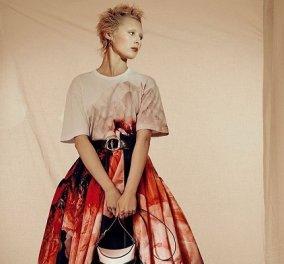 Η νέα κολεξιόν του Alexander McQueen με έμπνευση την ανεμώνη: Σιλουέτες σαν λουλούδια, δερμάτινα τζάκετ, τουαλέτες με κεντήματα (φωτό) - Κυρίως Φωτογραφία - Gallery - Video