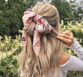 5 εύκολα & στυλάτα καλοκαιρινά χτενίσματα με μαντήλι στα μαλλιά: Κοτσίδα, πλεξούδα, χαμηλός κότσος ή αλογοουρά; (φωτό & βίντεο) - Κυρίως Φωτογραφία - Gallery - Video
