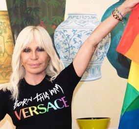 Η Donatella Versace στα χρώματα του Pride: «Είμαι ενθουσιασμένη για την συνεργασία με την Lady Gaga» (φωτό & βίντεο) - Κυρίως Φωτογραφία - Gallery - Video