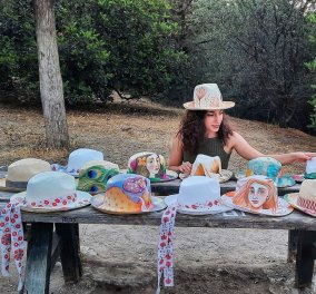 Made in Greece η Nadeen Art: Τα παπούτσια, τα καπέλα & οι τσάντες της Δήμητρας Ψυχογυιού ζωγραφίζονται στο χέρι - Μέσα στο εργαστήρι της στην Ακρόπολη - Κυρίως Φωτογραφία - Gallery - Video