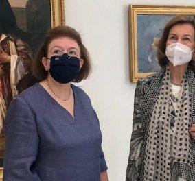 Βασίλισσα Σοφία της Ισπανίας: Από τους Λειψούς στην Εθνική Πινακοθήκη - Η ξενάγηση της ΥΠΠΟΑ Λίνας Μενδώνη (φωτό) - Κυρίως Φωτογραφία - Gallery - Video