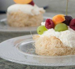 Στέλιος Παρλιάρος: Φωλιά από κανταΐφι με φρούτα - Μία εύκολη και νόστιμη καλοκαιρινή συνταγή - Κυρίως Φωτογραφία - Gallery - Video