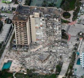 Τον γύρο του κόσμου κάνουν οι συνταρακτικές εικόνες από την κατάρρευση κτιρίου στη Φλόριντα - Τρεις νεκροί και 99 αγνοούμενοι (βίντεο) - Κυρίως Φωτογραφία - Gallery - Video