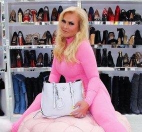 Μέσα στην μεγαλύτερη ντουλάπα της Αμερικής, αξίας 1 εκατ: Με 3 ορόφους και μπάρ! Η Theresa έχει πάνω από 50 Hermes & 560 ζευγάρια παπούτσια (βίντεο) - Κυρίως Φωτογραφία - Gallery - Video