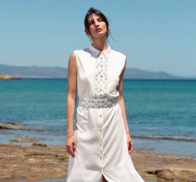 Made in Greece η  Εύη Μυγιάκη: Το φως του ήλιου & το μπλε της θάλασσας, η έμπνευση για τις δημιουργίες της - Μaxi φορέματα, τουνίκ & αξεσουάρ - Κυρίως Φωτογραφία - Gallery - Video