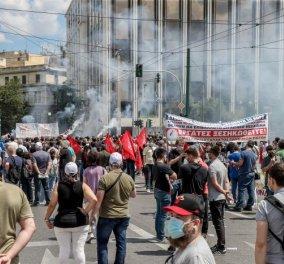 """Πανελλαδική απεργία: Μόνο τα λεωφορεία θα κινούνται 9:00-21:00 - Κυκλοφοριακές ρυθμίσεις λόγω συγκεντρώσεων - Ποιοι δρόμοι είναι στο """"κόκκινο"""" - Κυρίως Φωτογραφία - Gallery - Video"""