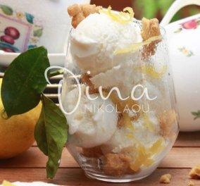 Παγωτό γιαούρτι με μέλι & λεμόνι από την Ντίνα Νικολάου - Αγαπήσαμε αυτή τη βελούδινη -δροσιστική γεύση  - Κυρίως Φωτογραφία - Gallery - Video