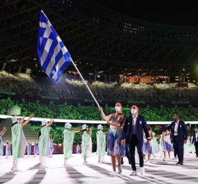 Τόκιο 2020 - τελετή έναρξης: Άννα Κορακάκη & Λευτέρης Πετρούνιας μπαίνουν στο Ολυμπιακό Στάδιο με την ελληνική σημαία (φωτό & βίντεο) - Κυρίως Φωτογραφία - Gallery - Video