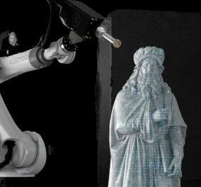 """Είναι """"τρελοί""""  αυτοί οι """"Ρωμαίοι""""; """"Δεν χρειαζόμαστε άλλον Μιχαήλ Άγγελο"""" - Στην Ιταλία οι γλύπτες της 3ης χιλιετίας είναι ρομπότ... (φώτο-βίντεο) - Κυρίως Φωτογραφία - Gallery - Video"""