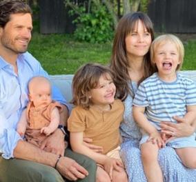 Ο γοητευτικός πρίγκιπας της Σουηδίας Καρλ Φίλοπ με την πριγκίπισσα του Σοφία, πρώην ριάλιτι σταρ & τα τρία παιδιά τους - Το πρώτο οικογενειακό πορτρέτο  - Κυρίως Φωτογραφία - Gallery - Video
