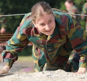 Η πριγκίπισσα Elisabeth του Βελγίου σε στρατιωτική εκπαίδευση - Με τον μπερέ & την στολή παραλλαγής η 19χρονη διάδοχος (φωτό) - Κυρίως Φωτογραφία - Gallery - Video