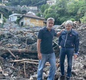 Ιταλία - Πλημμύρες: O Τζορτζ Κλούνεϊ δεν έμεινε με σταυρωμένα χέρια - Προσέφερε την υποστήριξή του στους κατοίκους εν μέσω του χάους (φώτο) - Κυρίως Φωτογραφία - Gallery - Video