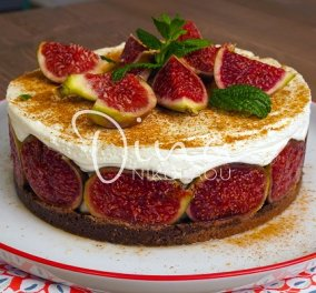 Η Ντίνα Νικολάου προτείνει: Cheesecake χωρίς ψήσιμο με φρέσκα σύκα - Γρήγορο, εύκολο και πεντανόστιμο - Κυρίως Φωτογραφία - Gallery - Video