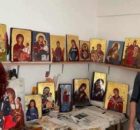 Οι ανέγνωρες μορφές της Παναγίας σε μια έκθεση αγιογραφίας στο Καστελόριζο - Η εικαστικός Ελένη Αντωνακάκη παρουσιάζει τα πρόσωπα της Θεομήτορος (φώτο) - Κυρίως Φωτογραφία - Gallery - Video