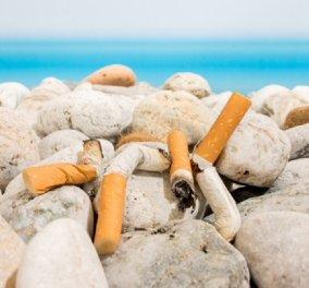 """22 δισεκατομμύρια αποτσίγαρα μαζεύονται κάθε χρόνο στην Ελλάδα - Το άκαυστο μέρος του τσιγάρου περιέχει καρκινογόνες ουσίες & βαρέα μέταλλα - Η εκστρατεία & το """"ΟΧΙ"""" αποτσίγαρα στις παραλίες - Κυρίως Φωτογραφία - Gallery - Video"""