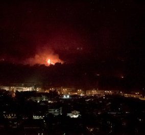 Δύσκολη νύχτα για την Αττική - Στο ύψος  της Μαλακάσας η φωτιά - H πυρκαγιά στα Άνω Λιόσια απειλεί την Πετρούπολη  (φώτο-βίντεο)  - Κυρίως Φωτογραφία - Gallery - Video