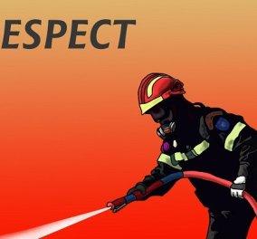 Το «respect» του Αρκά στους πυροσβέστες: Ένα σκίτσο - φόρος τιμής σε αυτούς που δίνουν μάχη με τις φλόγες στα πύρινα μέτωπα - Κυρίως Φωτογραφία - Gallery - Video