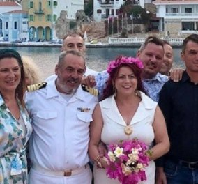 Αποκλειστικό: Γάμος στο Καστελλόριζο - Παντρέψαμε τον Πλοίαρχο του Πολεμικού Ναυτικού με την ωραία Ελένη του - φωτό & βίντεο - Αγάπη είναι να ρωτάς την καρδιά, όχι την λογική σου...  - Κυρίως Φωτογραφία - Gallery - Video