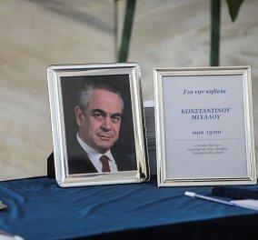 To τελευταίο αντίο στον Κωνσταντίνο Μίχαλο: Η κηδεία του σε κλίμα συγκίνησης με την οικογένεια σύσσωμο τον πολιτικό κόσμο, φίλους & πλήθος επιχειρηματιών (φωτό - βίντεο) - Κυρίως Φωτογραφία - Gallery - Video