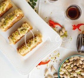 Σαραγλί με κρέμα & φυστίκι Αιγίνης από την Ντίνα Νικολάου - Ένα γλυκό όνειρο για όσους αγαπάτε  - Κυρίως Φωτογραφία - Gallery - Video