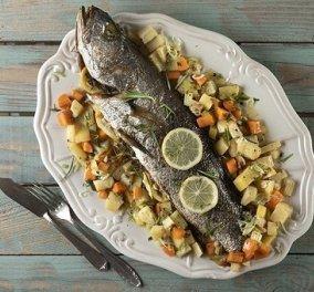 Μια λαχταριστή συνταγή από τον Άκη Πετρετζίκη: Μυλοκόπι με λαχανικά - το θυμάρι & το δεντρολίβανο δίνουν άλλο άρωμα  - Κυρίως Φωτογραφία - Gallery - Video