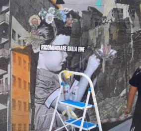 """Good news: Η Αθήνα """"μιλάει"""" τη διεθνή γλώσσα της street art - Πρωτοποριακής τεχνικής γκράφιτι στο Γκάζι από τον Ιταλό καλλιτέχνη Demetrio Di Grado - Κυρίως Φωτογραφία - Gallery - Video"""
