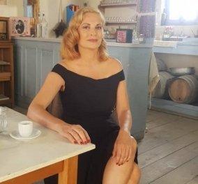 Γεννημένη σταρ! Η ξανθιά Θεοφανία Παπαθωμά επέστρεψε στο Διαφάνι - Η Βιολέτα ποζάρει στο καφενείο της με χολυγουντιανή εμφάνιση  !  (φώτο) - Κυρίως Φωτογραφία - Gallery - Video