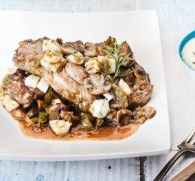 Αργυρώ Μπαρμπαρίγου: Μαγειρεύει χοιρινά μπριζολάκια με χαλούμι, λαχανικά και μπίρα – Μία συνταγή που εκτοξεύει την απόλαυση - Κυρίως Φωτογραφία - Gallery - Video