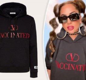 """""""V"""" όπως Valentino &  «Vaccinated» - Τα νέα φούτερ του ιταλικού οίκου  φτιάχτηκαν για καλό σκοπό- Τα φόρεσε πρώτη η Lady Gaga (φώτο) - Κυρίως Φωτογραφία - Gallery - Video"""
