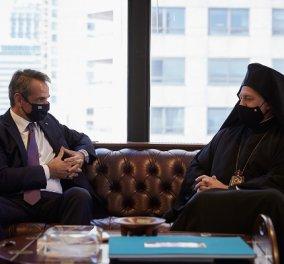 Συνάντηση Μητσοτάκη - Ελπιδοφόρου στα γραφεία του ΟΗΕ: Άρρηκτη σχέση της Ελλάδας με την Αρχιεπισκοπή Αμερικής (φωτό & βίντεο) - Κυρίως Φωτογραφία - Gallery - Video
