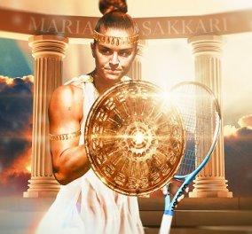 Η Μαρία Σάκκαρη προκρίθηκε στα προημιτελικά του US Open: Η αποθέωση με την φωτό της τενίστριας - σαν αρχαία Ελληνίδα πολεμίστρια (βίντεο) - Κυρίως Φωτογραφία - Gallery - Video
