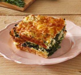 Μια λαχταριστή συνταγή από την Αργυρώ Μπαρμπαρίγου - Ένα εύκολο σουφλέ με ψωμί, σπανάκι & φέτα - Κυρίως Φωτογραφία - Gallery - Video