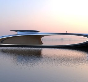 Ένα φαντασμαγορικό superyacht: Με τεράστια τρύπα στη μέση & αεροδυναμικό concept (φώτο-βίντεο) - Κυρίως Φωτογραφία - Gallery - Video