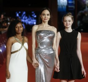 Η Angelina Jolie στην πιο χολιγουντιανή της εμφάνιση: Στο κόκκινο χαλί με τις κόρες της - σιλουέτα σαν άγαλμα (φωτό & βίντεο) - Κυρίως Φωτογραφία - Gallery - Video