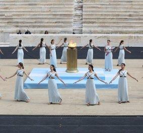 Φωτό & βίντεο από την τελετή παράδοσης - παραλαβής της Ολυμπιακής Φλόγας, για τους Χειμερινούς Αγώνες του Πεκίνου - Κυρίως Φωτογραφία - Gallery - Video