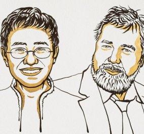 Σε 2 δημοσιογράφους το Νόμπελ Ειρήνης 2021: Οι φετινοί νικητές του βραβείου είναι μια Φιλιππινέζα & ένας Ρώσσος - Δείτε ποιοι είναι (φωτο - βίντεο)  - Κυρίως Φωτογραφία - Gallery - Video