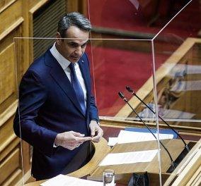 Κυρ. Μητσοτάκης - δευτερολογία στην Βουλή: Είστε εκτεθειμένος κ. Τσίπρα - Πρέπει να εξηγήσετε γιατί αυτό που ζητούσατε το Δεκέμβριο του 2020, τώρα το απορρίπτετε - Κυρίως Φωτογραφία - Gallery - Video