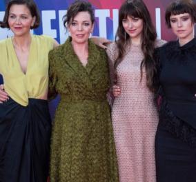 Η Dakota Johnson με την Olivia Colman και την Ruth Wilson στην πρεμιέρα του The Lost Daughter - Το απίθανο nude φουστάνι Gucci & τα κακόγουστα των άλλων (φωτό)το - Κυρίως Φωτογραφία - Gallery - Video