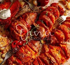 Ντίνα Νικολάου: Σκορδάτες γλυκοπατάτες με μέλι και μουστάρδα -  το τέλειο συνοδευτικό για ψητά κρέατα ή πουλερικά - Κυρίως Φωτογραφία - Gallery - Video