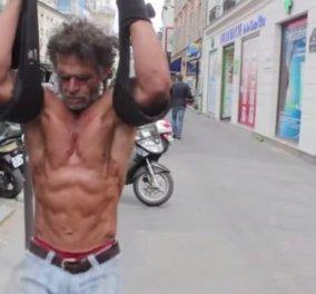 Απίστευτη δύναμη ψυχής & θέληση! Άστεγος bodybuilder μετέτρεψε τα πεζοδρόμια του Παρισιού σε... γυμναστήριο! (φωτό & βίντεο) - Κυρίως Φωτογραφία - Gallery - Video