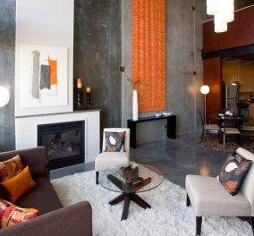 Καλημέρααα! Τι θα λέγατε να ανακαινίζατε το σαλόνι σας συνδιάζοντας το πορτοκαλί με το γκρι; Εκπληκτικά, μίνιμαλ, χαρούμενα design θα σας κάνουν να μην σηκώνεστε από τον καναπέ! (Φωτό)  - Κυρίως Φωτογραφία - Gallery - Video