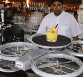 Πιάτα & ποτήρια πετούν πάνω από τα κεφάλια σας σε εστιατόριο στη Σιγκαπούρη: Χρησιμοποιεί drones για να σερβίρει! (Βίντεο) - Κυρίως Φωτογραφία - Gallery - Video